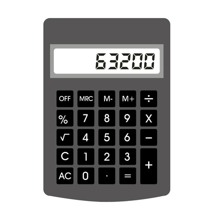 math icon: calculator digital math icon vector isolated design