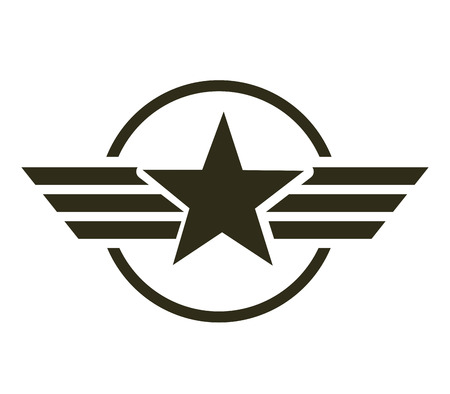 military star emblem isolated icon vector illustration design