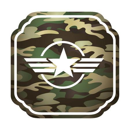 estrellas  de militares: militar emblema de la estrella ic�nico ilustraci�n vectorial de dise�o