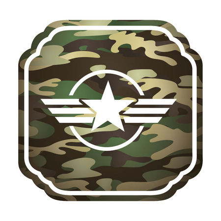 estrellas  de militares: military star emblem isolated icon vector illustration design