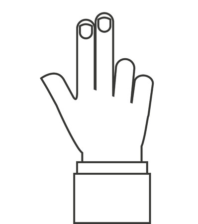 human touch: hands human touch isolated vector illustration design