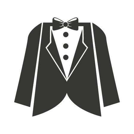 prendas de vestir ropa de hombre icónico ilustración vectorial de diseño