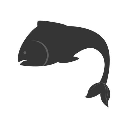 aquatic: fish animal sea aquatic aquarium swim silhouette nature ocean vector  illustration isolated