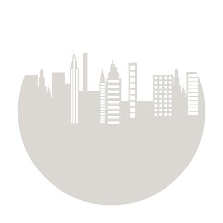 city icon: cityscape silhouette isolated icon vector illustration design Illustration