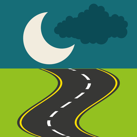 roadway landscape isolated icon vector illustration design Illustration