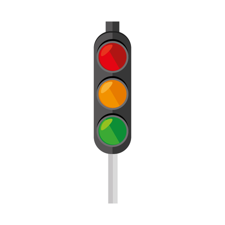 the stoplight: light traffic signal street stoplight transportation regulation vector  illustration isolated Illustration