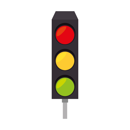 traffic signal: light traffic signal street stoplight transportation regulation vector  illustration isolated Illustration