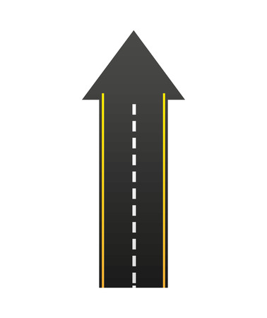 roadway: roadway landscape isolated icon vector illustration design Illustration
