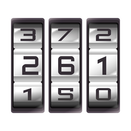 result: counter count down number result mechanic device vector  isolated and flat illustration