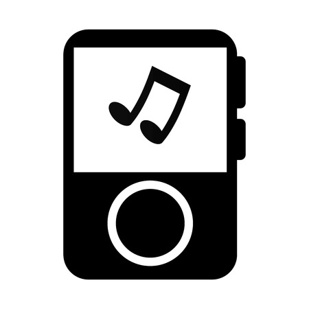 the song: mp3 player music song note musical portable audio track vector  isolated and flat illustration Illustration