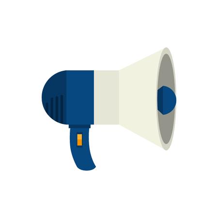 loud: megaphone speak device loud announcement broadcast symbol vector  isolated illustration Illustration