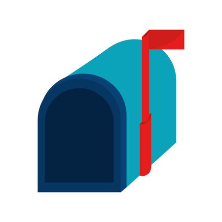 Dostarczanie poczty elektronicznej otrzymywać korespondencję otwarta wysyłka ilustracji wektorowych odizolowane