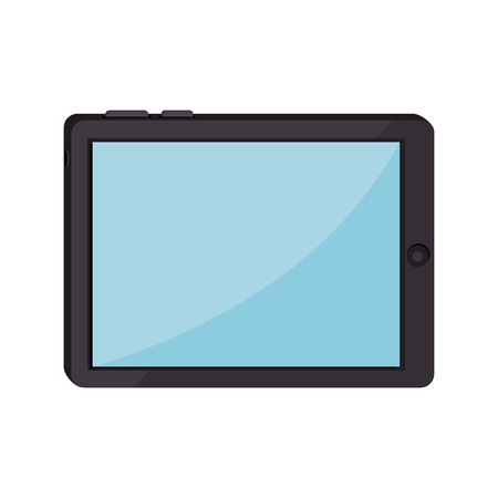 tablet device screen ipad touch technology computer vector  isolated and flat illustration Çizim