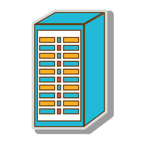 programmable: hosting cloud hardware computer programmable circuit lights process system electric vector  illustration isolated
