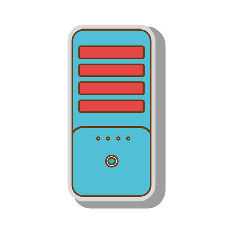 computer case: cpu tower box computer case pc technology electronic vector  isolated and flat illustration