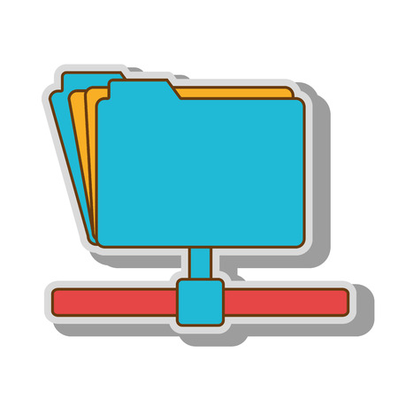 host: file host archive information technology network ftp vector  illustration isolated
