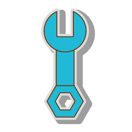wrench tool key mechanical repair toolkivector  illustration isolated