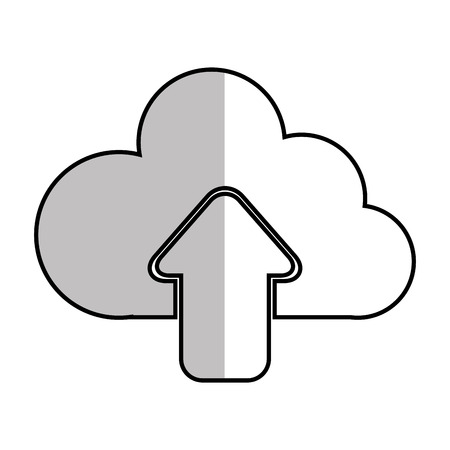 host: upload cloud files host files system network vector  illustration isolated