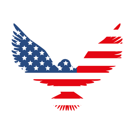 hawk america flag usa us emblem nation eagle vector  illustration isolated