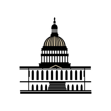 capitol america usa washington district capital dc iconic law government vector  illustration isolated Illustration