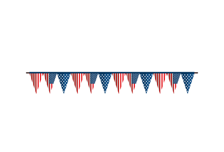 bunting flag america usa united states of america celebration party decoration vector  illustration isolated
