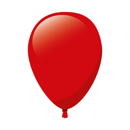 lucidity: balloon red decoration party celebration air fly vector  illustration isolated