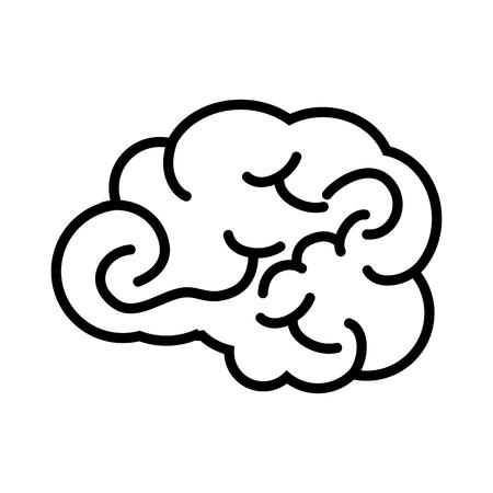 brain mind head intellectual think human organ mental vector  illustration isolated