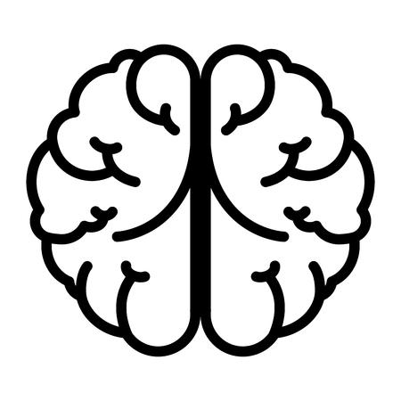 intellectual: brain mind head intellectual think human organ topmental vector  illustration isolated Illustration