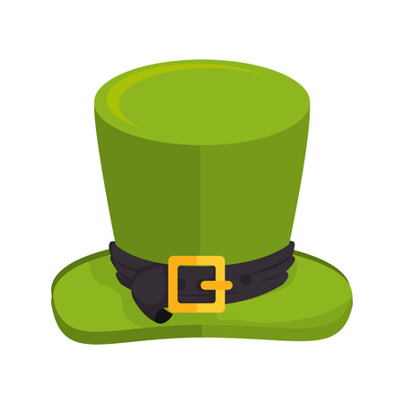goodluck: hat saint patrick cap lucky ireland goodluck costume vector illustration isolated