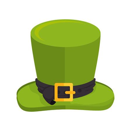goodluck: hat saint patrick cap lucky ireland goodluck costume vector illustration isolated