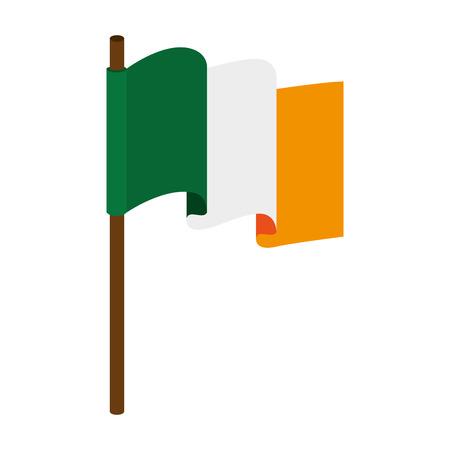 irish pride: flag ireland irish national country symbol pride vector  illustration isolated Illustration
