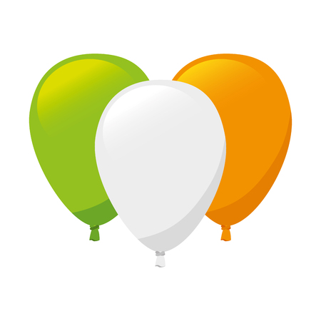 irish pride: balloon decoration flag ireland irish national country symbol pride vector  illustration isolated