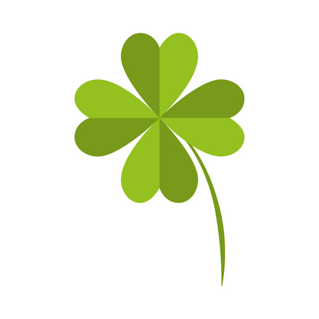 lucky plant: clover lucky fourth leaf plant fortune irish natural vector illustration isolated