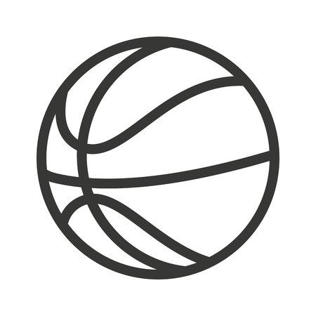 balon baloncesto: baloncesto con balón aislado icono de ilustración vectorial de diseño Vectores
