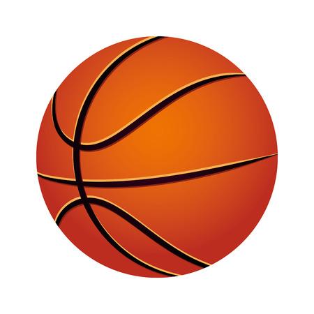 balon baloncesto: balloon basketball isolated icon vector illustration design Vectores