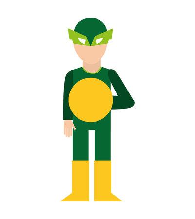 hero character comic isolated icon vector illustration design Illustration