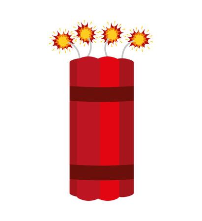 dinamita: icónico ilustración vectorial de diseño cómico dinamita