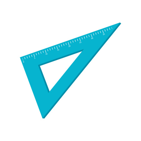 rule: rule triangle instrument school tool scale metric vector illustration isolated Illustration