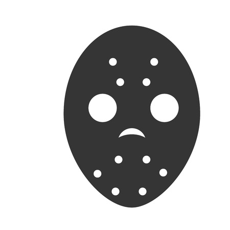 head protection: mask hockey sport protection face head uniform vector illustration isolated
