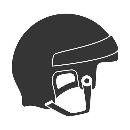 arquero: helmet hockey goalkeeper head sport equipment safety vector illustration isolated Vectores