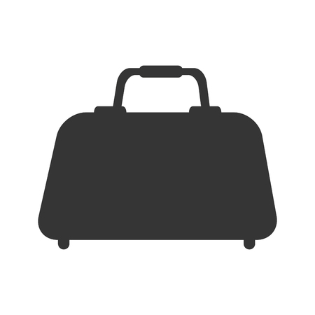 knapsack: hand bag case knapsack luggage baggage travel  vector  illustration isolated