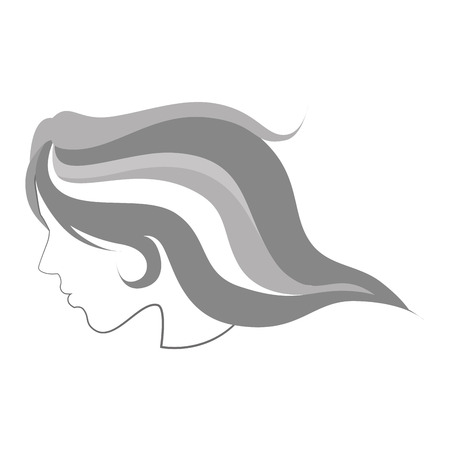 hair sketch female side girl lady face woman beauty vector illustration isolated Illustration