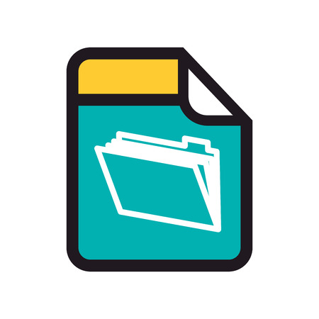 open file: format file archive file binder open type technology vector illustration isolated