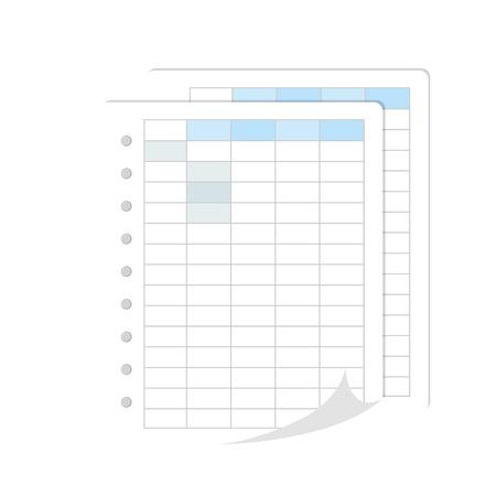 spreadsheet file data financial statistics table bars graph vector illustration isolated