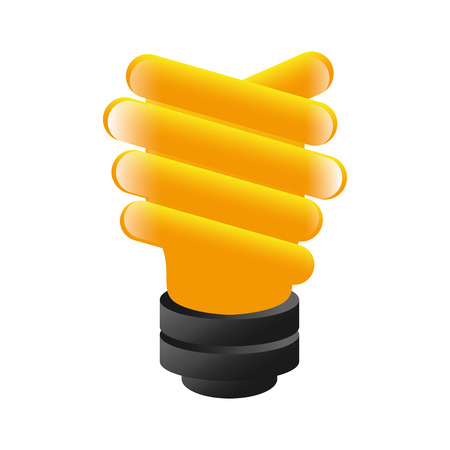 efficient: bright bulb economy efficient environment light energy vector illustration isolated