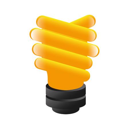 saver bulb: entorno eficiente de energ�a ilustraci�n vectorial bombilla de luz brillante econom�a aislada