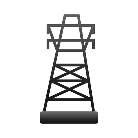 electrics: energy electricity electric building tower structure industry vector illustration isolated