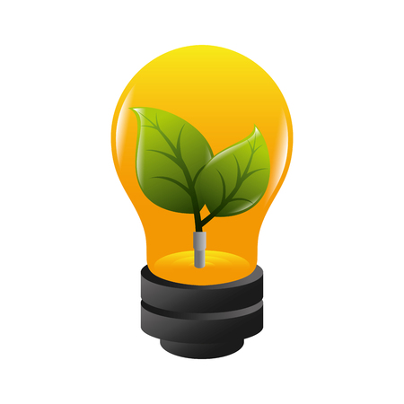 plant growing: bulb ecology plant growing environment electricity vector illustration isolated
