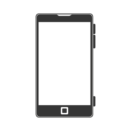 smartphone screen mobile phone  technology buttons display vector illustration isolated