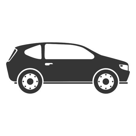 hatchback: car automobile auto transport vehicle side hatchback icon vector illustration isolated